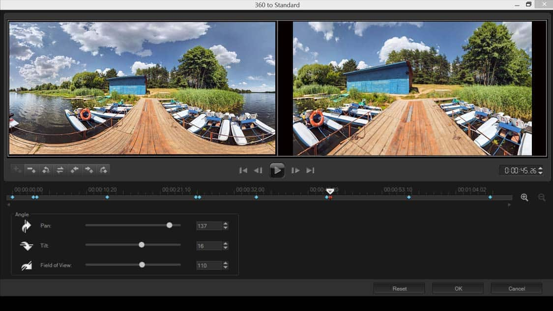 How To Convert 360 Video To Standard Video in VideoStudio