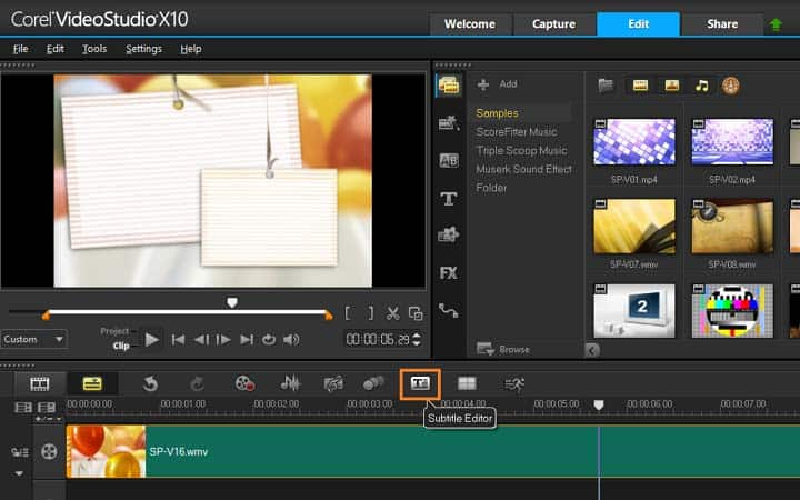 How to add subtitles to a video in videostudio open subtitle editor ccuart Gallery