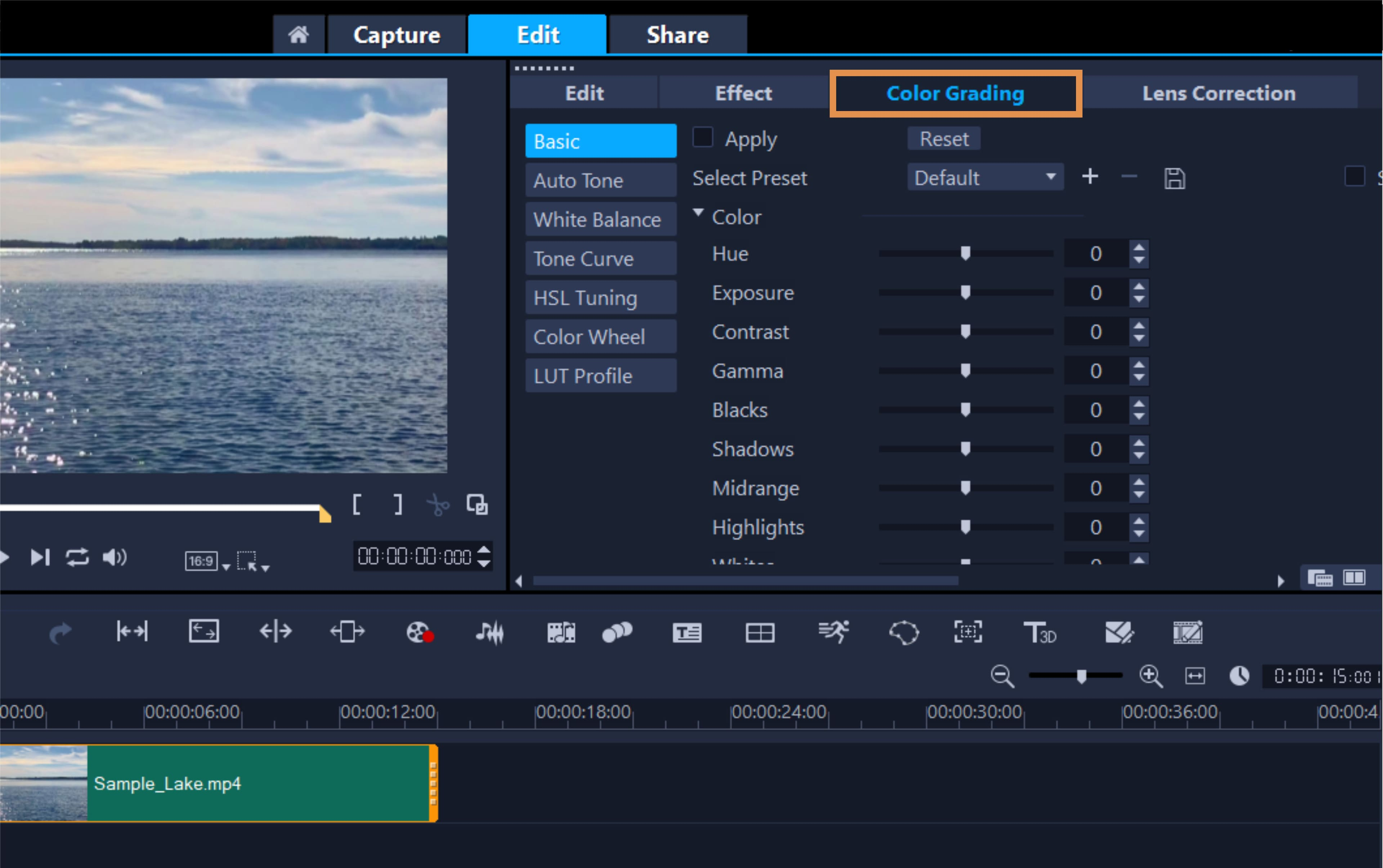 How To Correct Video Color in VideoStudio
