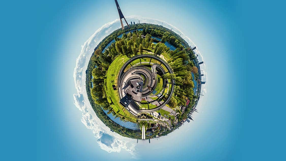 Effetti Tiny Planet e Rabbit Hole