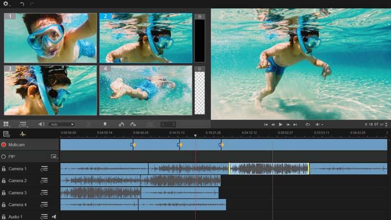 Editor video multi-camera