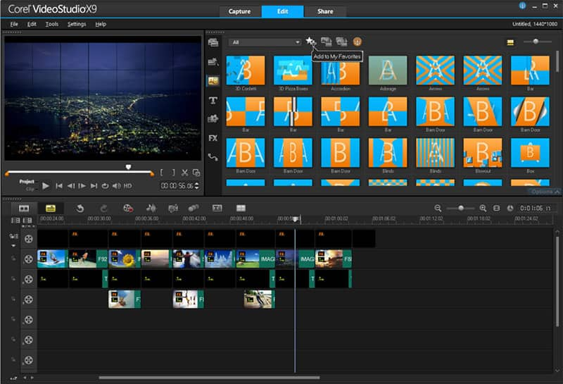 Video editing software by corel videostudio pro x9 5 for Free corel video studio templates