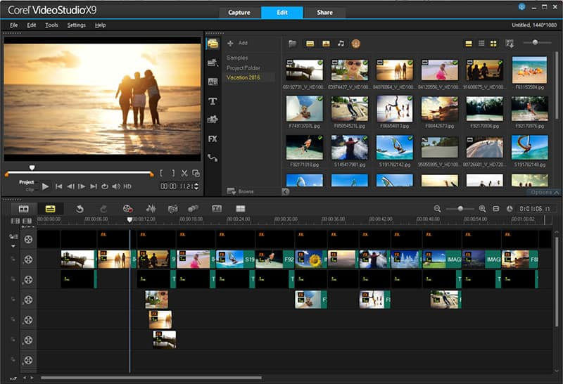 Video editing software by corel videostudio pro x9 5 for Corel video studio templates download