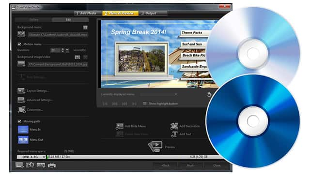 Authoring di dischi completo ed editing video in un solo software